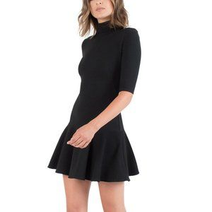 Black Halo Reeder Mock Neck Mini Dress